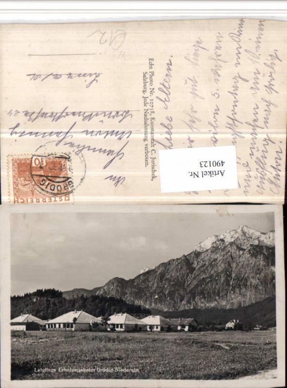490123,Grödig Niederalm Lehrlings Erholungsheim Bergkulisse