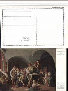 491980,Künstler AK Waldmüller Nikolo Nikolaus Familie Hund