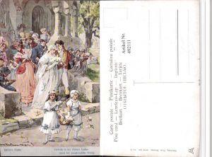 492111,Künstler AK H. Kaufmann Schillers Glocke Hochzeit pub Theo Stroefer 643/5