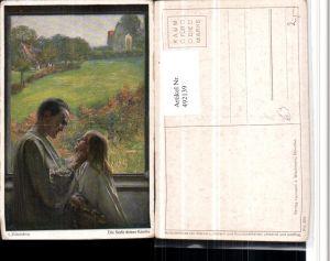 492139,Künstler AK L. Fahrenkrog Seele deines Kindes Vater Landschaft
