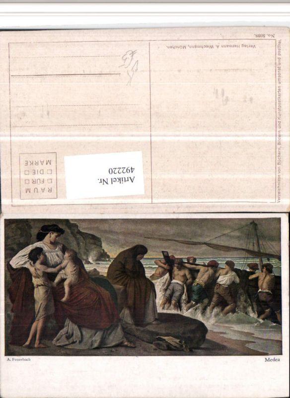 492220,Künstler AK A. Feuerbach Medea Segelschiff pub A. Wiechmann 5038