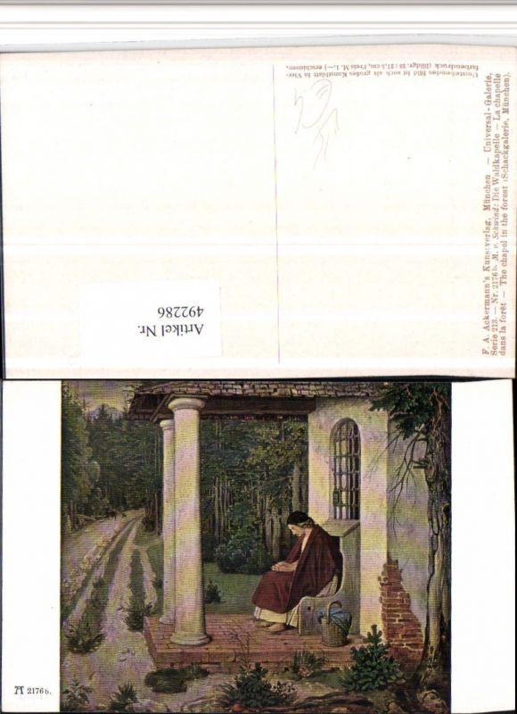 492286,Künstler AK M. v. Schwind Waldkapelle pub Ackermann 2176b