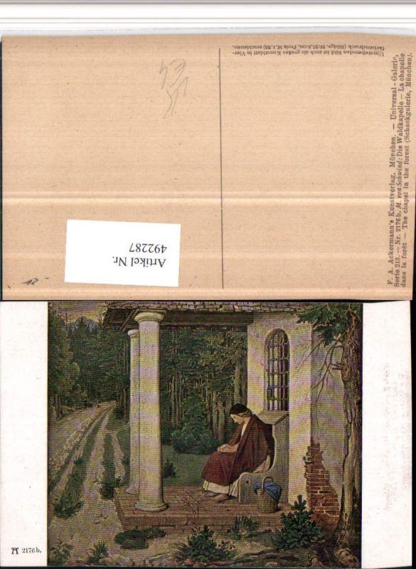 492287,Künstler AK M. v. Schwind Waldkapelle pub Ackermann 2176b