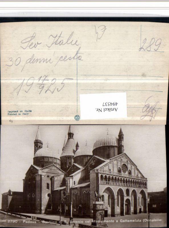 494537,Veneto Padova Basilica S. Antonio col Monumento Gattamelata Kirche 0