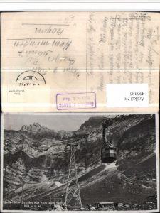 495385,Säntis b. Schwende Seilbahn Bergkulisse Kt Appenzell