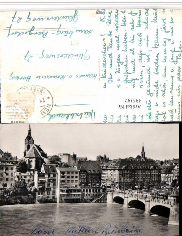495392,Basel Teilansicht Mittlere Rheinbrücke Brücke