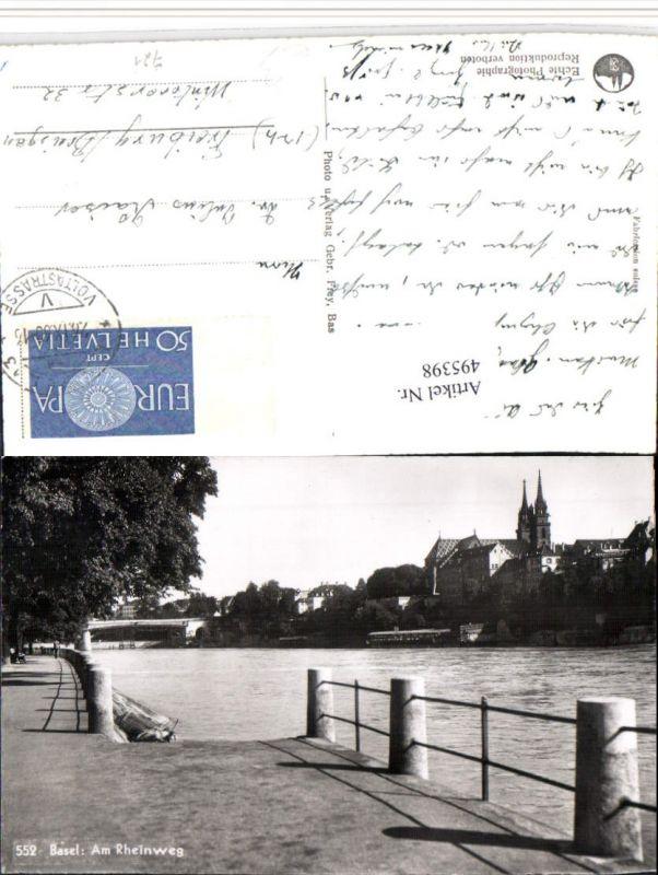 495398,Basel Teilansicht am Rheinweg Brücke