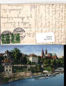 495401,Basel Teilansicht Pfalz m. Deutsch-Rittergarten pub Künzli 5641