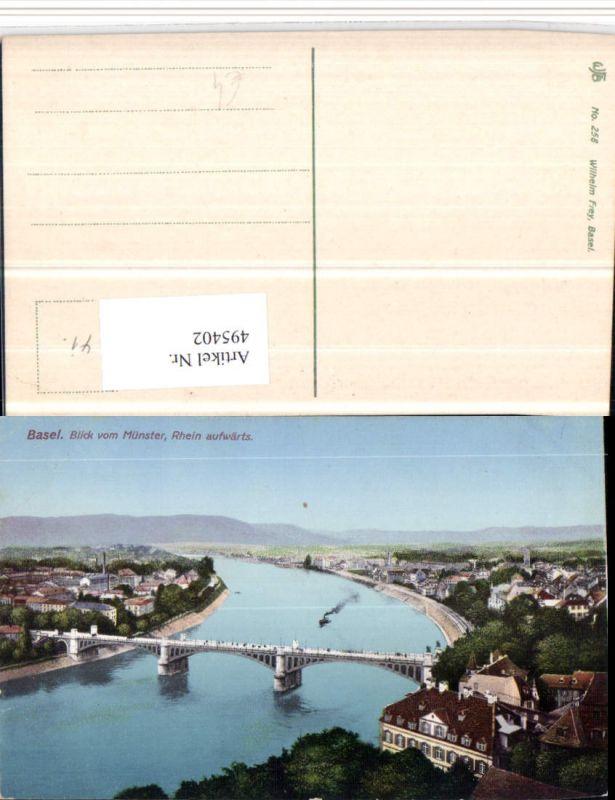 495402,Basel Teilansicht vom Münster Brücke