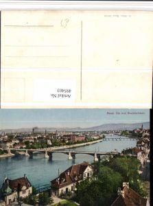 495403,Basel Teilansicht Rheinbrücken Brücken