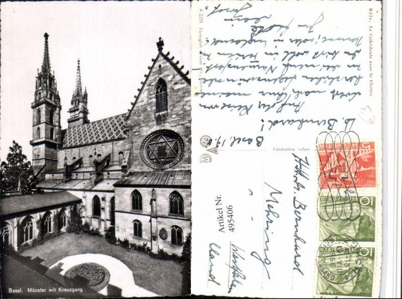 495406,Basel Münster m. Kreuzgang Kirche