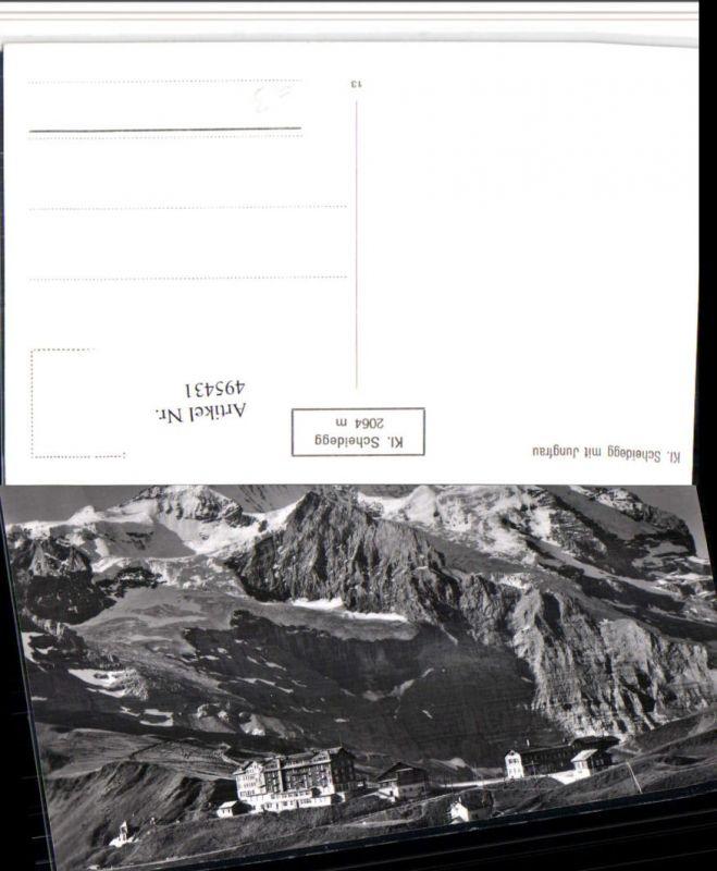 495431,Kleine Scheidegg b. Wengen m. Jungfrau Bergkulisse Kt Bern