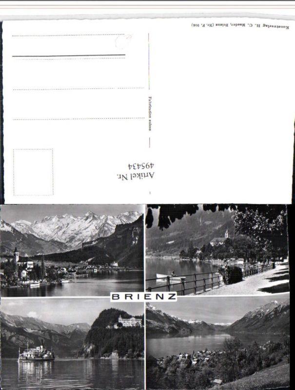 495434,Brienz Totale Dampfer Bergkulisse Mehrbildkarte Kt Bern