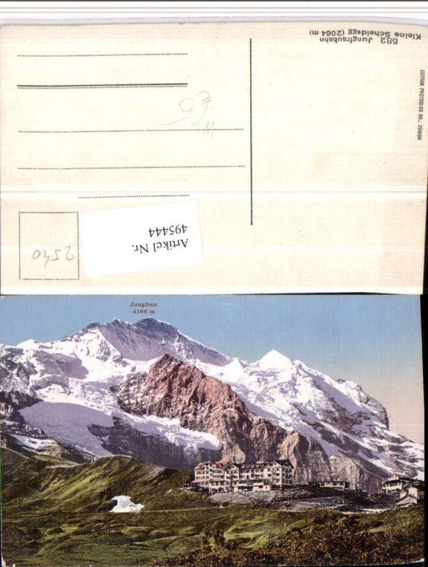 495444,Kleine Scheidegg b. Wengen Jungfraubahn Bergkulisse Kt Bern