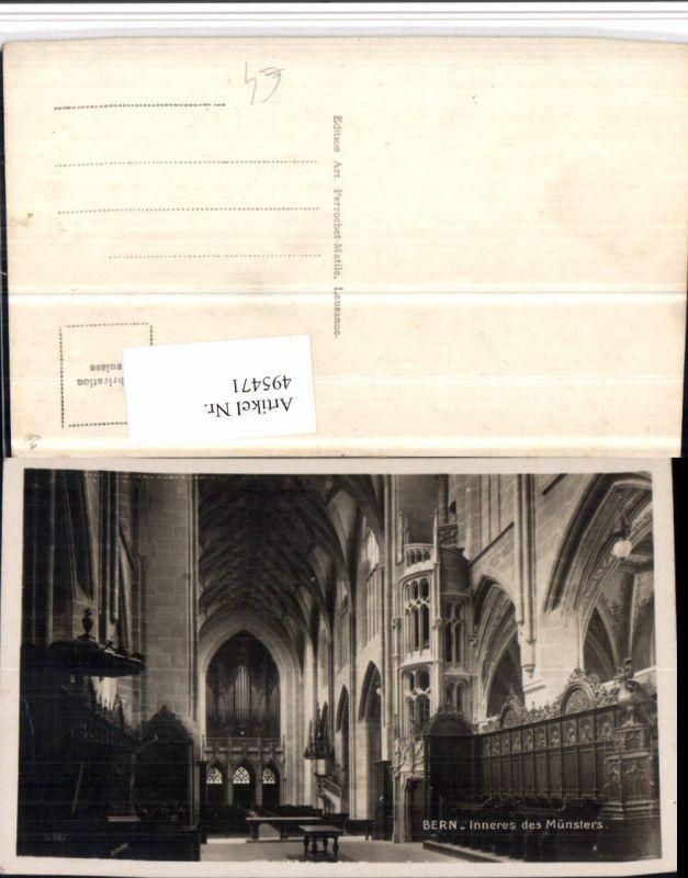 495471,Bern Münster Kirche Innenansicht