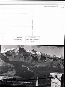495480,Brienzer Rothorn b. Brienz Berneralpen Bergkulisse Kt Bern