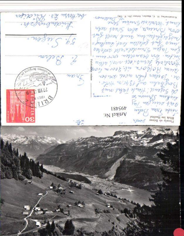 495481,Planalp ob Brienz Blick ins Haslital Bergkulisse Kt Bern