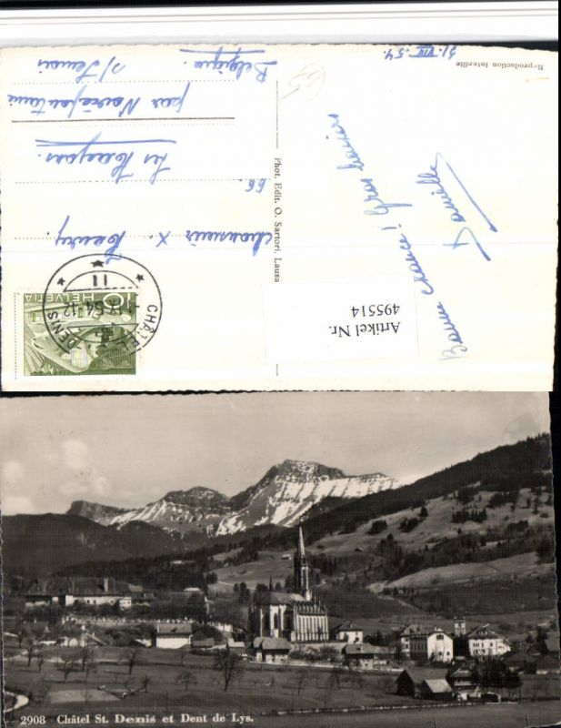 495514,Chatel St. Denis et Dent de Lys Totale Bergkulisse Kt Freiburg