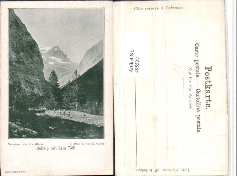 495527,Uelialp mit dem Tödi Bergkulisse Kt Glarus