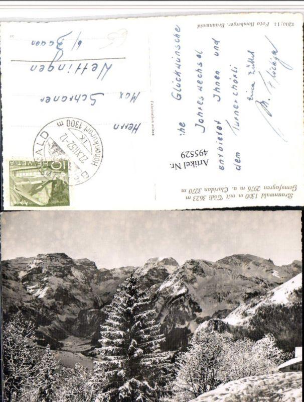 495529,Braunwald m. Tödi Bergkulisse Kt Glarus