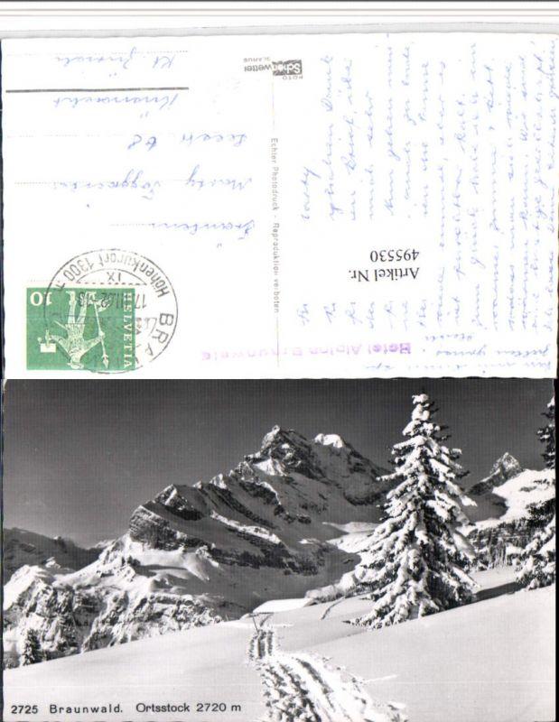 495530,Braunwald Ortsstock Bergkulisse Kt Glarus