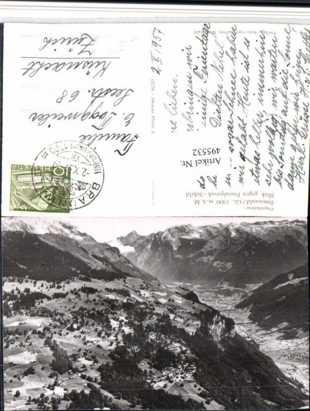 495532,Braunwald Blick geg. Fronalpstock Bergkulisse Kt Glarus