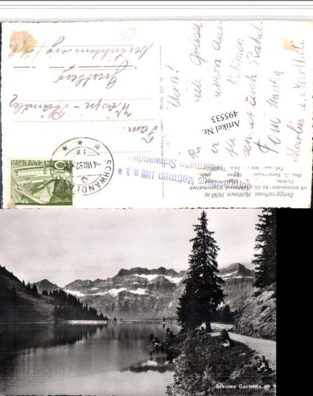 495533,Stausee Garichte b. Schwanden Bergkulisse Kt Glarus