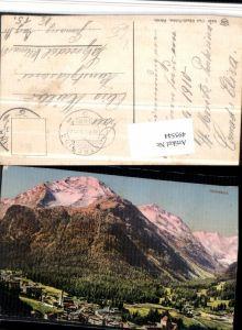 495544,Pontresina Totale Bergkulisse Kt Graubünden pub Künzli 5249