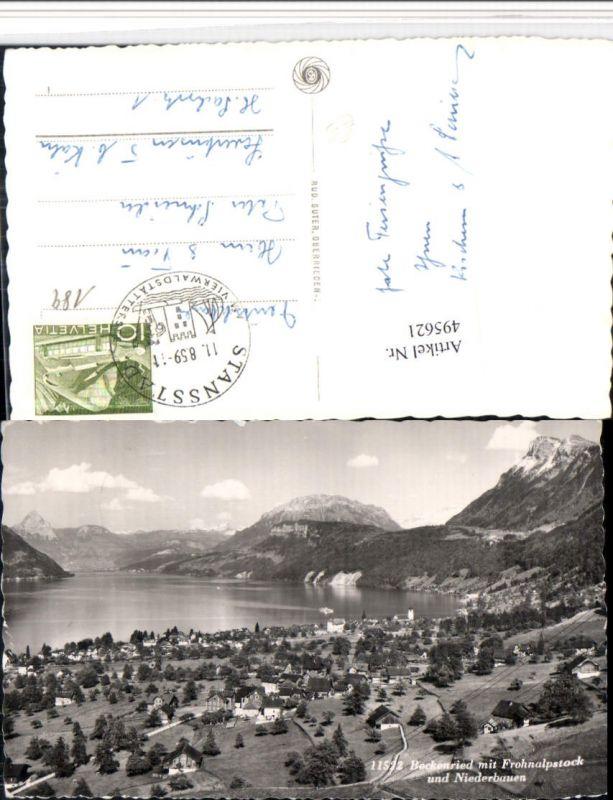 495621,Beckenried Totale m. Frohnalpstock Bergkulisse Kt Nidwalden
