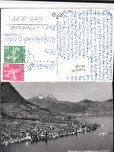495623,Beckenried Totale m. Pilatus Bergkulisse Kt Nidwalden