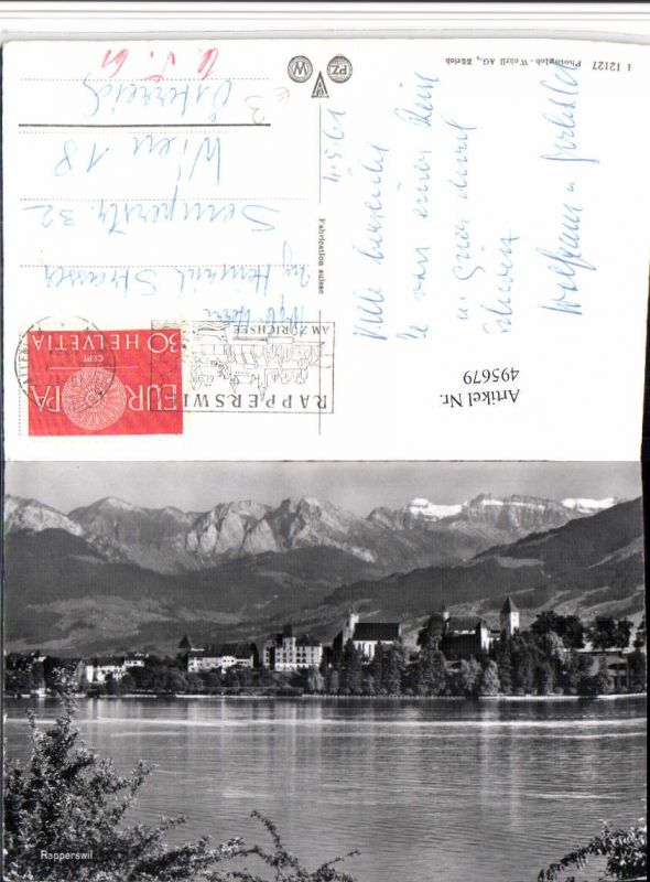 495679,Rapperswil Teilansicht Bergkulisse Kt St Gallen