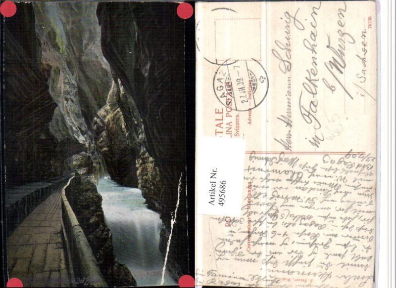 495686,Taminaschlucht Schlucht b. Bad Pfäfers Kt St Gallen