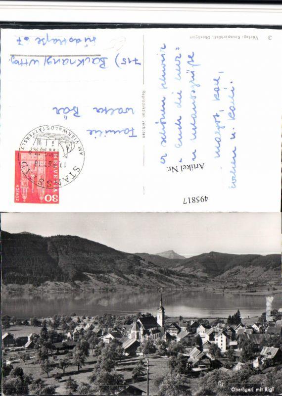 495817,Oberägeri Totale m. Rigi Bergkulisse Kt Zug
