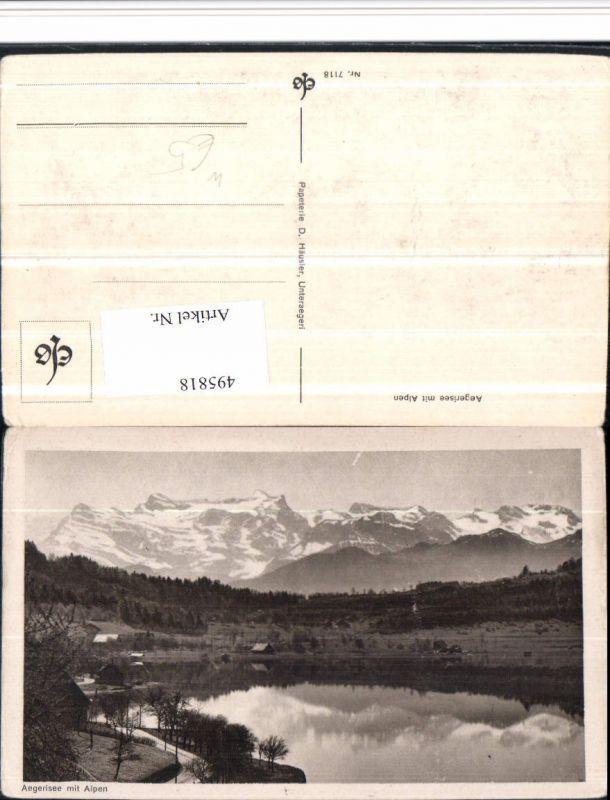 495818,Aegerisee See m. Alpen Bergkulisse Kt Zug