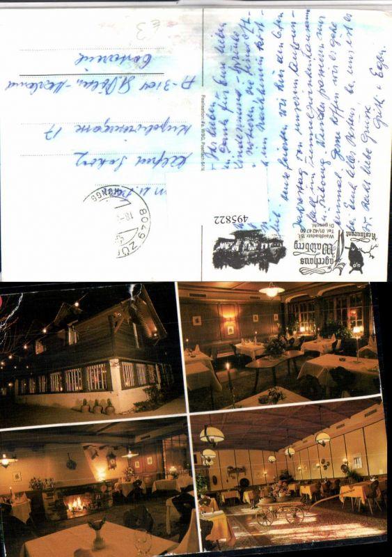 495822,Zürich Waidberg Jägerhaus Restaurant Mehrbildkarte
