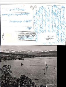 493720,Zürichsee See m. Glarneralpen Bergkulisse Kt Zürich