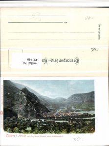 493740,Montenegro Kotor Cattaro Totale m. Alten Straße Bergkulisse
