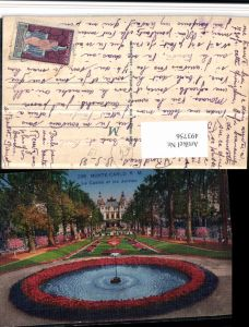 493756,Monaco Monte-Carlo Le Casino et les Jardins Brunnen