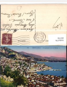 493758,Monaco Monte-Carlo Vue generale prise de Monaco Totale