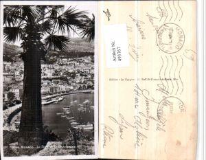 493767,Monaco Le Port et la Condamine Teilansicht Hafen Palme