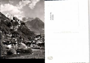 493886,Fürstentum Liechtenstein Vaduz Totale m. Schloss Bergkulisse