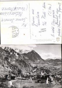 493887,Fürstentum Liechtenstein Vaduz Totale m. Schloss Bergkulisse