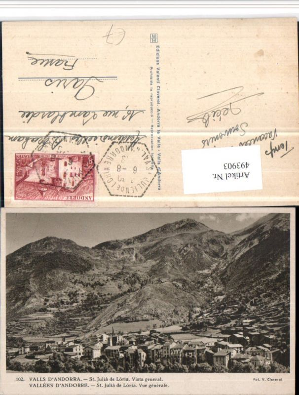 493903,Andorra St. Julia de Loria Vista general Totale Bergkulisse