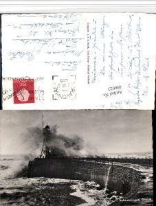 496023,Netherlands Scheveningen Storm Brandung Mole