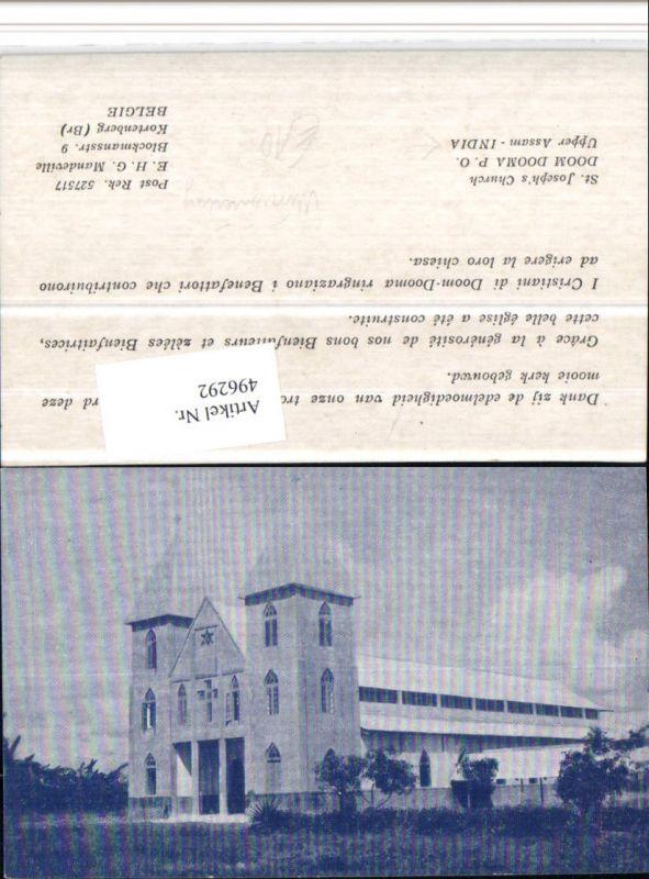 496292,India Upper AssamSt. Josephs Church Missionierung Kirche