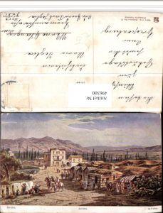 496300,Künstler AK F. Perlberg Palästina Jericho Dorf Typen
