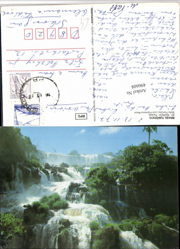 496608,Brazil Iguaco Parana Salto Floriano com Palmeira Naipi Wasserfall