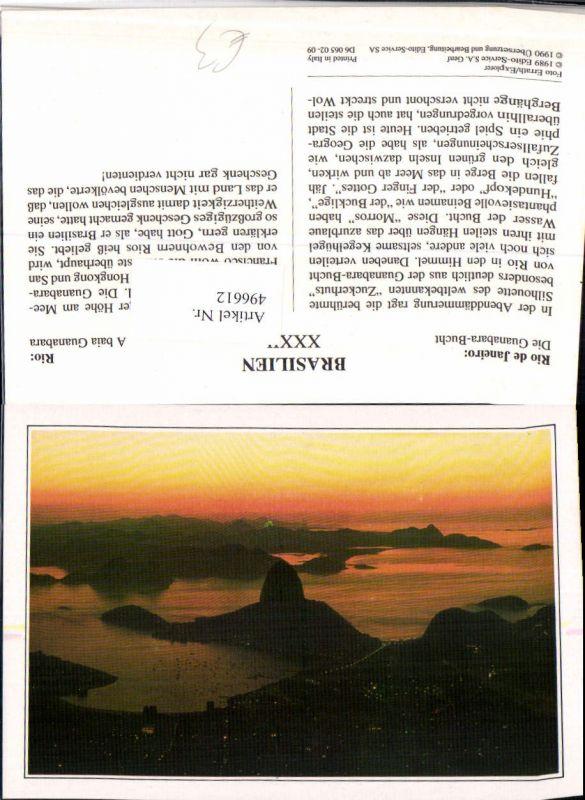 496612,Brazil Rio de Janeiro Guanabara-Bucht Zuckerhut