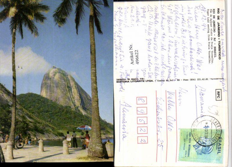 496622,Brazil Rio de Janeiro Pao de Acucar visto da Praia Vermelha Zuckerhut