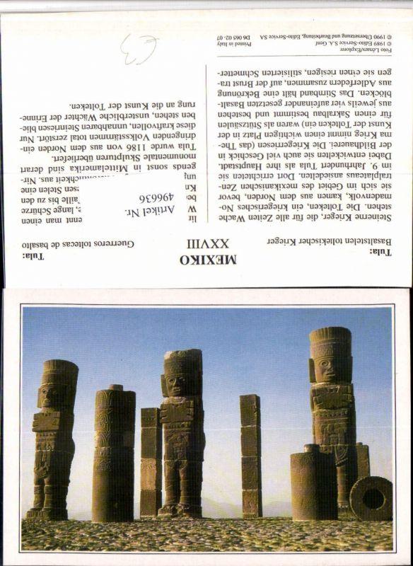 496636,Mexico Tula Basaltstelen toltekischer Krieger Säulen